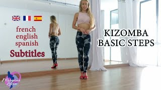 How to do the basic steps in Kizomba LadyStyling | Online Lesson with Morgane Lucia [SUBTITLES]