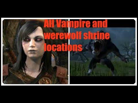 ESO All Vampire & Werewolf Shrine Locations