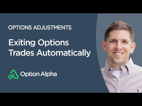 Exiting Options Trades Automatically