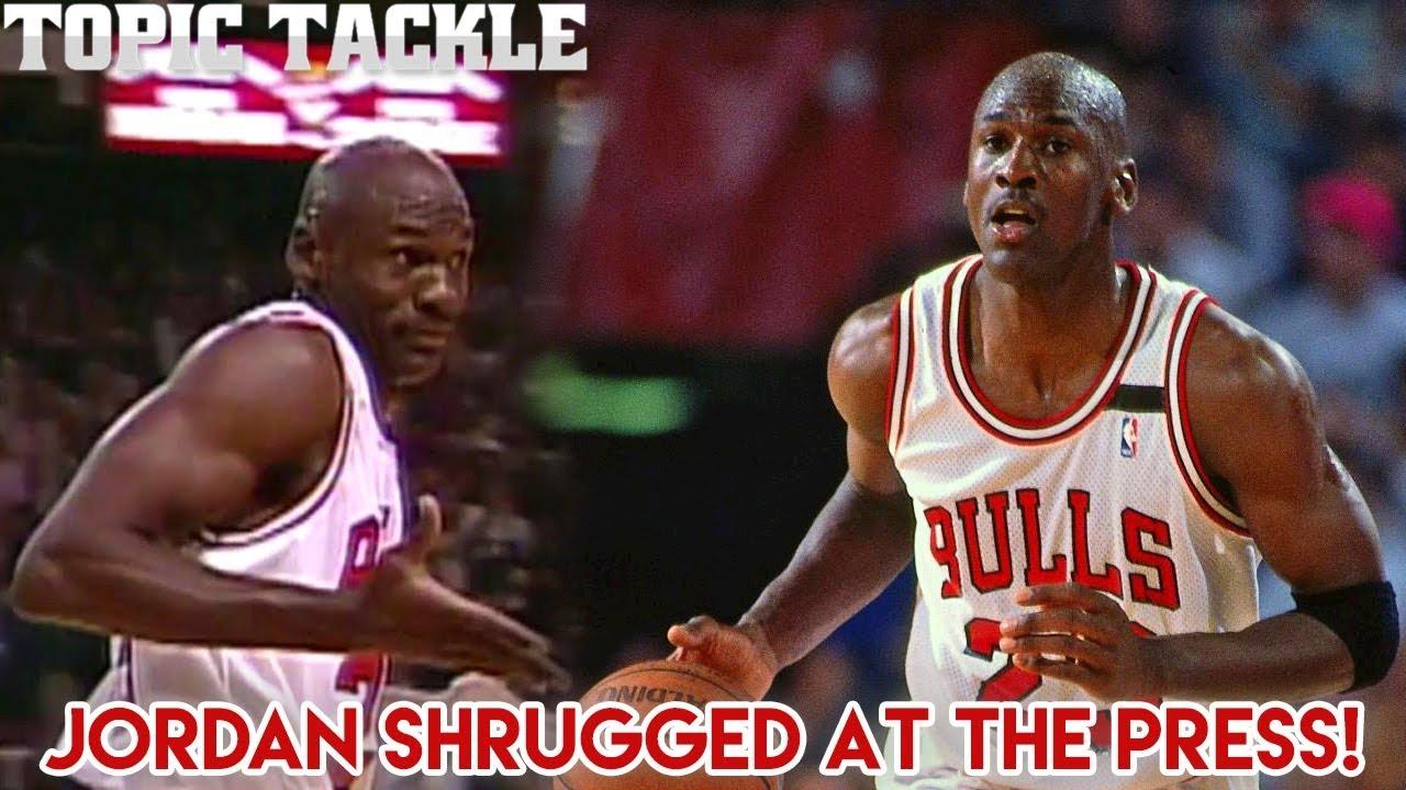f5a1d2c7d87a The Story Behind Jordan s Shrug Game- Reporters said Drexler had ...