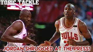 The Story Behind Jordan's Shrug Game- Reporters said Drexler had CAUGHT UP TO MJ!