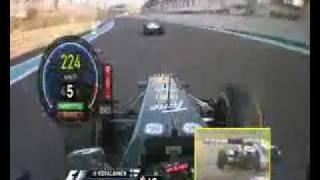 Abu Dhabi GP F1 2011 Onboard - Team Lotus - Heikki Kovalainen vs Kobayashi