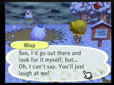 Animal Crossing:City Folk-Meeting Wisp(the genie) - YouTube