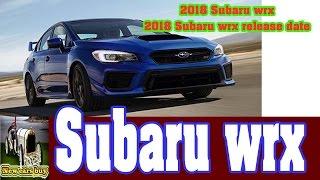 2018 Subaru wrx - 2018 Subaru wrx release date  - New cars buy