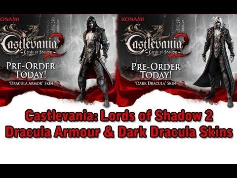 Castlevania Lords Of Shadow 2 Dark Dracula Dracula Armour Skins Youtube