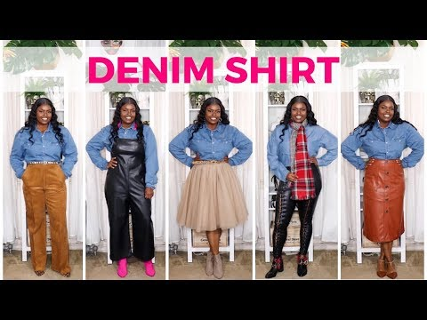 how-to-style-a-denim-shirt-(10+-ways)