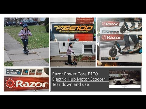 Razor Power Core E100 Electric Hub Motor Scooter Tear Down And Use