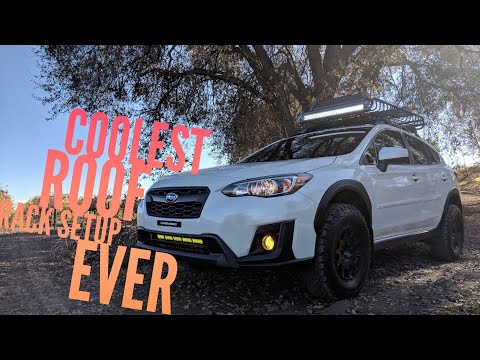 The best 2018 Subaru Crosstrek Roof Rack Setup EVER!