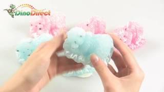 Cute 3 Pcs Bear Present Candle for Christmas Birthday Gift - dinodirect
