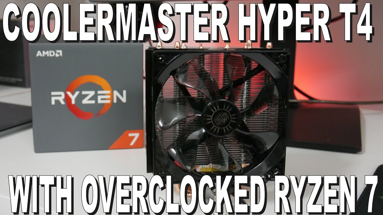 Cooler Master Hyper T4 with Ryzen 7 1700 Overclocked