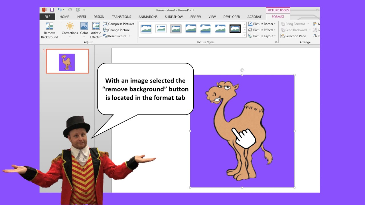 Hump Day PowerPoint Tip - Remove Background Button