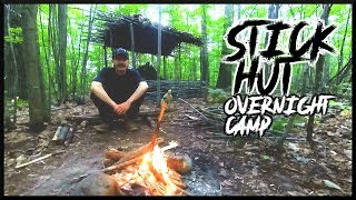 Testing An Axe/Gouger And Campfire Cookout At A Stick Hut Bushcraft Camp