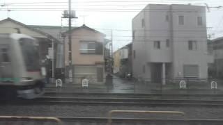 【東武スカイツリーライン】竹ノ塚駅付近一部高架化!西新井~谷塚間、右側車窓