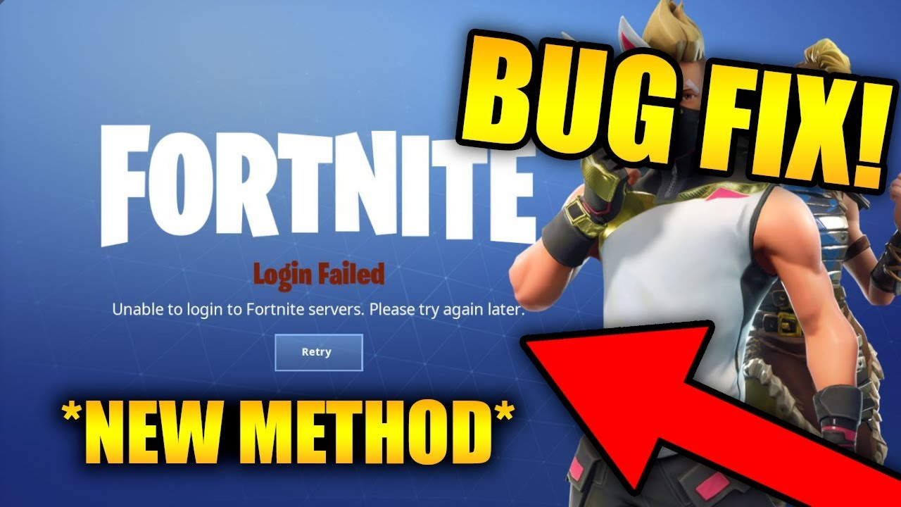 UNABLE TO LOGIN TO FORTNITE SERVERS  PLEASE TRY AGAIN LATER  (FIX) | *NEW  METHOD*