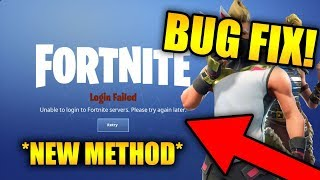 UNABLE TO LOGIN TO FORTNITE SERVERS. PLEASE TRY AGAIN LATER. (FIX) | *NEW METHOD*