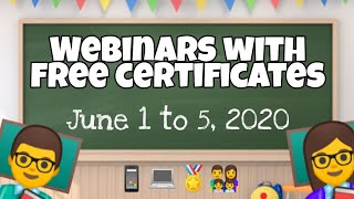 Webinars with free certificates June 1 to 5, 2020 by Vibal Group | How to join Vibal webinars?