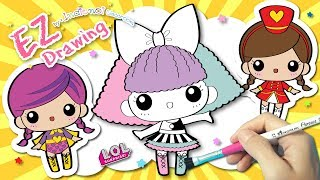 EASY DRAW& Coloring L.O.L.Surprise Doll★Mixed#7✿Coloring pages✿Video for Kids&Children✿