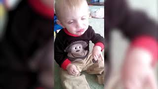 Funny Video - Baby Tipping Over