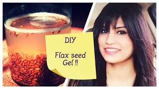 Flax seed gel for spotless, firm & glowing skin | DIY