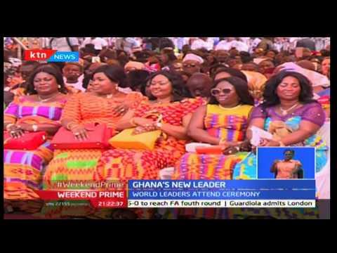 Ghana's Nana Akufo Addo takes oath of office