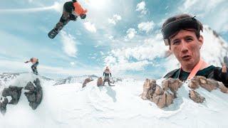 FPV cinematic long range (crashed into snowboarder) gopro destroyed!