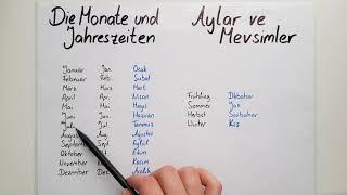 Almanca Aylar ve Mevsimler- DIE MONATE UND JAHRESZEITEN