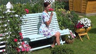 Скамейка садовая моими руками за 2000 рублей.