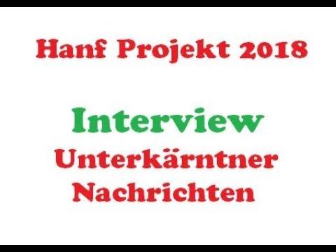 Hanf Anbau 2018 - Interview - High Spirit CBD Hanf - Unterkärntner Nachrichten (Zeitung)