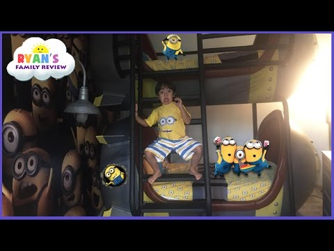 Toy Hunt at Minion Hotel Room in Universal Studio Resort  Family fun trip with Ryan's Family Review