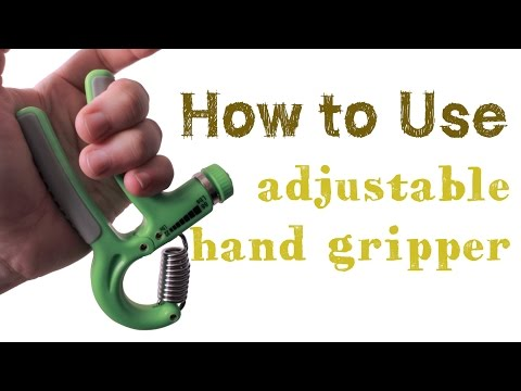 Download Youtube: Hand Gripper Exercise - How to use adjustable hand gripper for hand and finger exercise.