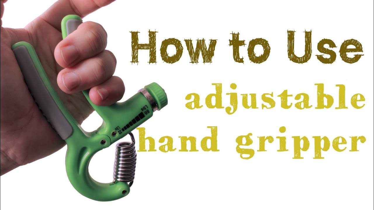 how to use a hand grip exerciser