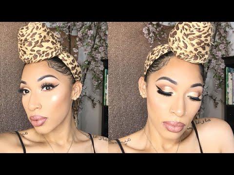 Bomb Neutral Glowy Makeup Look | BH Cosmetics X itsmyrayeraye Palette | Easy Cut Crease thumbnail