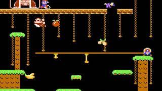 DONKEY KONG JR ATÉ ZERAR PARTE 1 NES 8-BITS