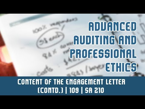 109 | SA 210 | Terms of Audit Engagement l Contd... | Content Of The Engagement Letter