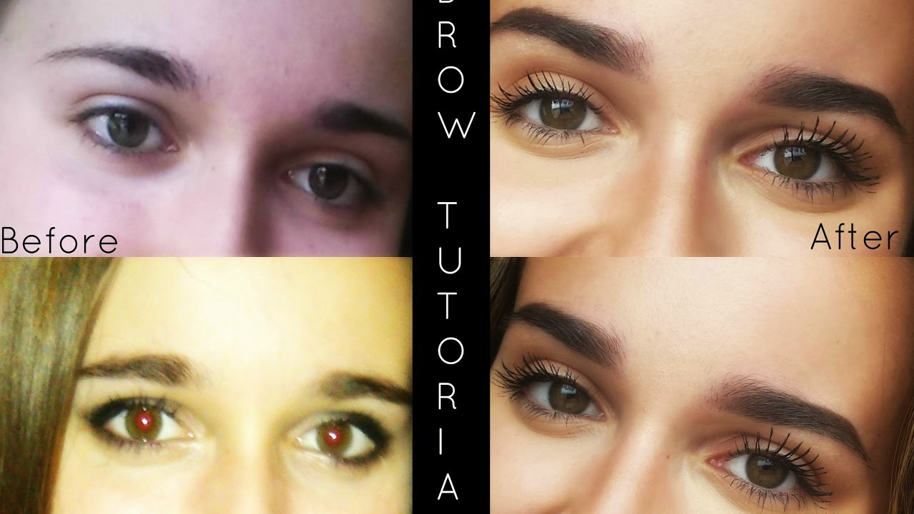 Tutorial For How To Go From Straight Eyebrows To Arched Youtube