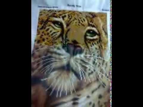Глаза тигра вышивка
