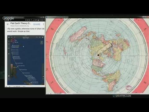 RAVNA ZEMLJA Azimutna Ekvidistantna mapa objašnjava letove u Južnoj hemisferi