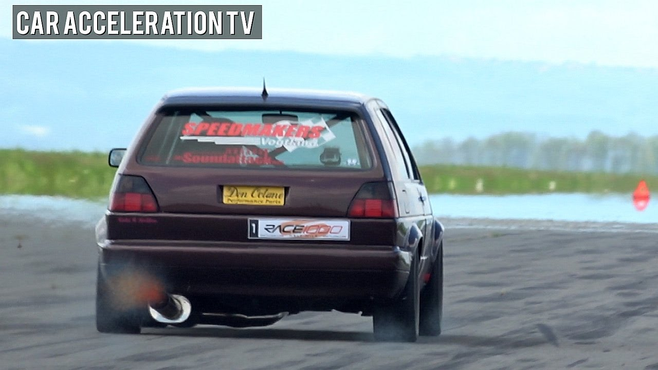 Fastest Vw Golf 2 Turbo Ever Half Mile Acceleration 335km