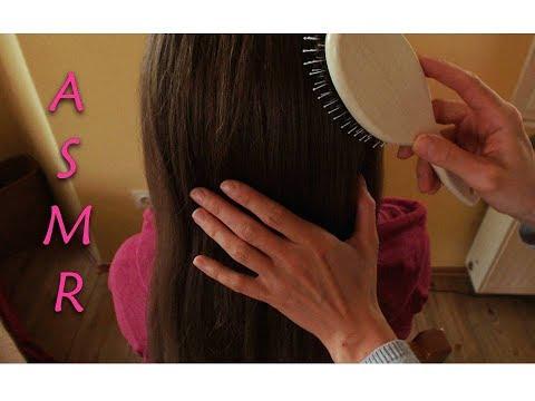 ASMR | 👩 📏  VERY GENTLE HAIR ROLEPLAY (BRUSHING, BRAIDING & FINGER GLIDING) | WHISPERED/ GEFLÜSTERT