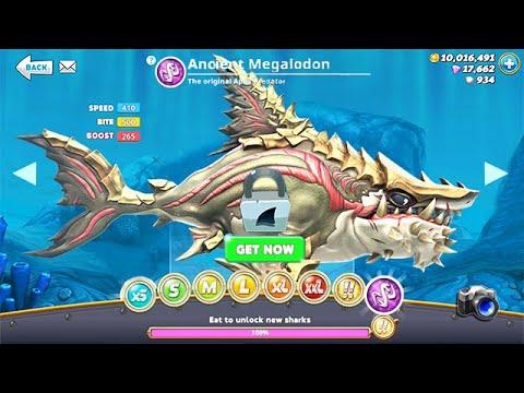 NEW ANCIENT MEGALODON UNLOCKED!!! (HUNGRY SHARK WORLD)