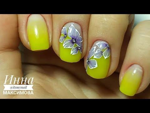 Желтый дизайн ногтей 2019