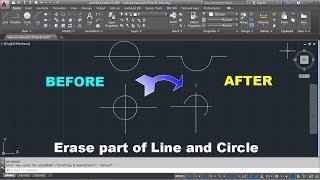AutoCAD Erase Part oḟ Line | AutoCAD Erase Part of a Circle