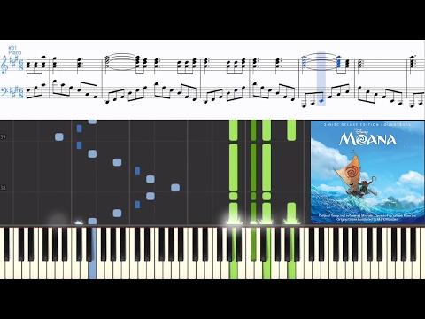 [Moana] Mark Mancina & Opetaia Foa'i - Te Fiti Restored (Synthesia Piano Tutorial W/Lyrics)