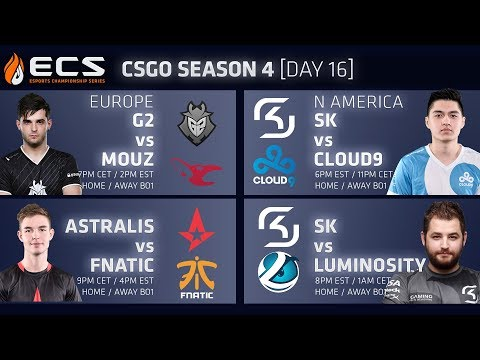 ECS CS:GO S4 DAY 16: G2 vs Mouseports // Astralis vs Fnatic // SK vs Cloud9 // SK vs Luminosity