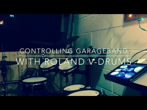 Controlling GarageBand for iPad with Roland V-Drums