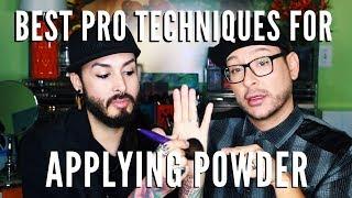 Best Way To Apply Setting Powder | Proper Brush Application - mathias4makeup