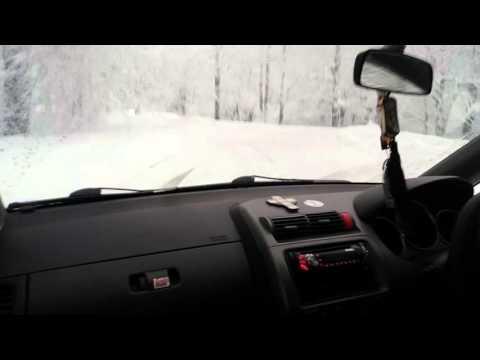 Honda fit snow drift georgia 5 youtube for Honda fit in snow