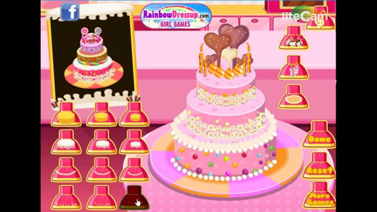 Baby Barbie Cake Shop Game Brithday Cake