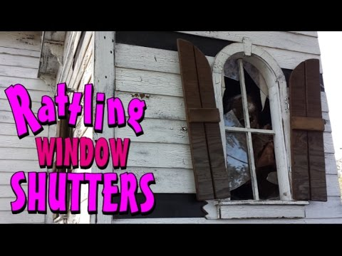 Pneumatic Rattling Window Shutters For A Haunted House
