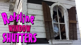 Making Moving Window Shutters To Decorate Your Haunted House For Halloween